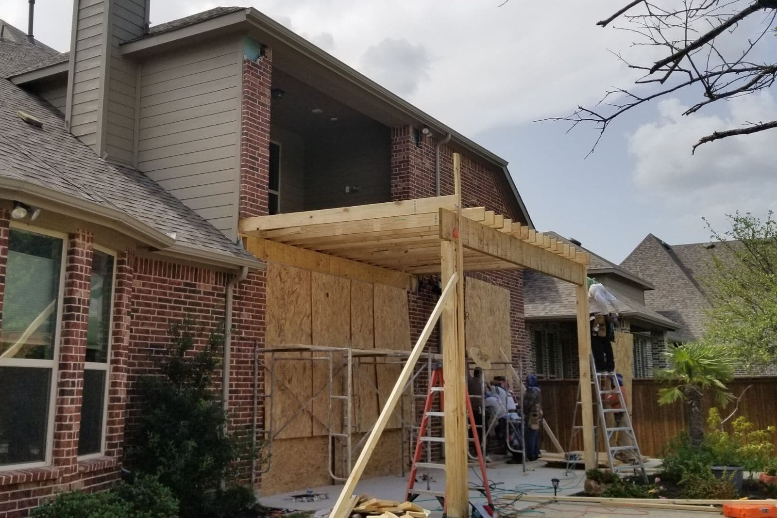 House Exterior Being Remodeled